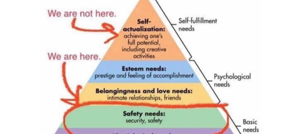 The Pandemic, Maslow and Us